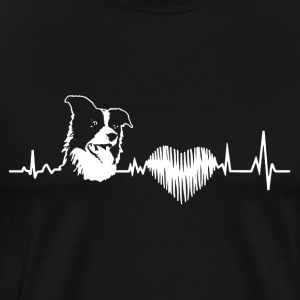 Border Collie Heartbeat Shirt - Men's Premium T-Shirt