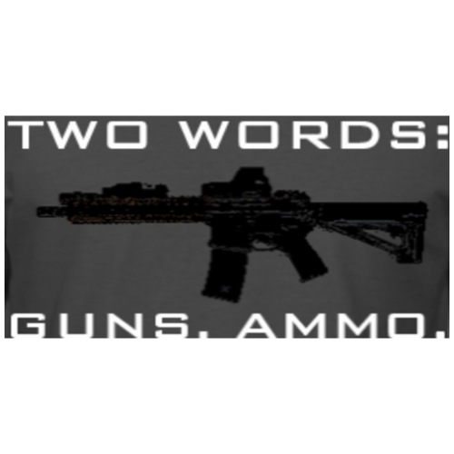 TWO WORDS: GUNS. AMMO. - Men's Premium T-Shirt