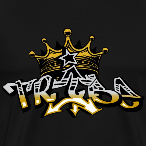 Impower Tribe crown graffiti font design - Men's Premium T-Shirt
