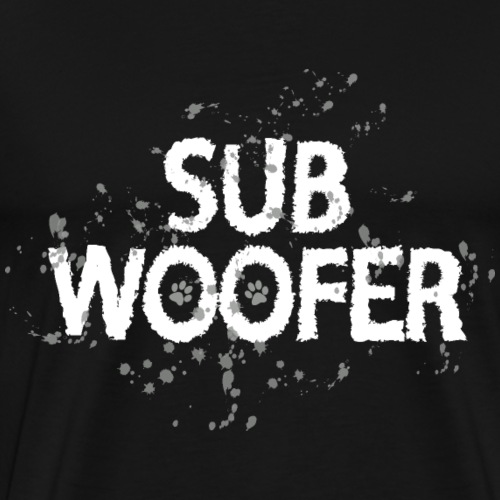Sub Woofer Pup Play Puppy Play Paw Print - Men's Premium T-Shirt