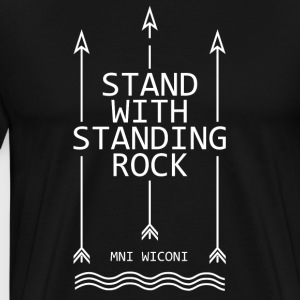 Stand with standing rock - Men's Premium T-Shirt