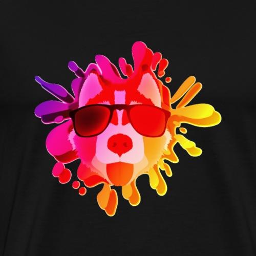 colorful cool dog - Men's Premium T-Shirt