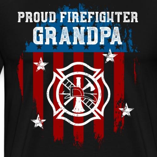 Proud Firefighter Grandpa - Men's Premium T-Shirt