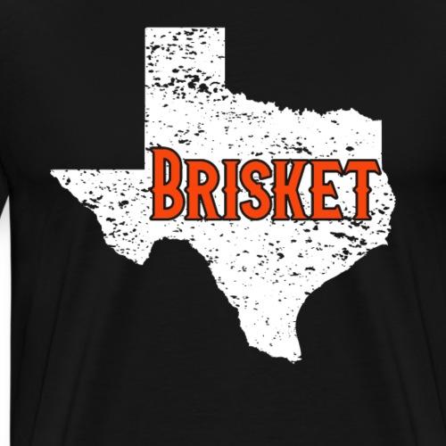 Brisket BBQ Barbeque State of Texas Vintage - Men's Premium T-Shirt