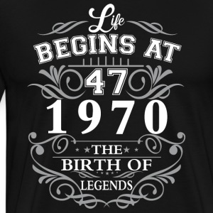 Life begins 42 1970 The birth of legends - Men's Premium T-Shirt