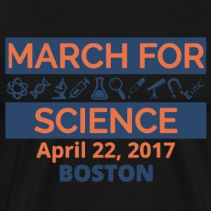 March For Science Boston Shirt - Men's Premium T-Shirt