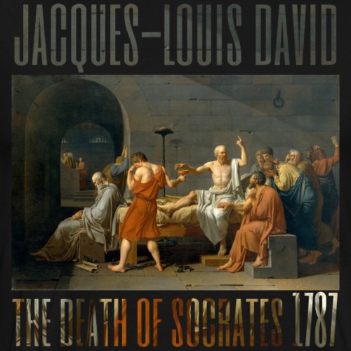 The Death of Socrates 1787 - Men's Premium T-Shirt
