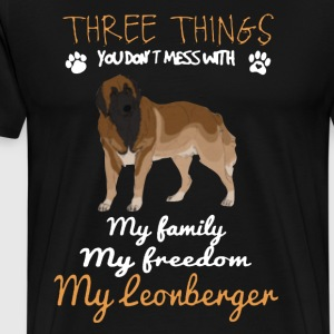 Three Things With My Irish Wolfhound Shirt - Men's Premium T-Shirt