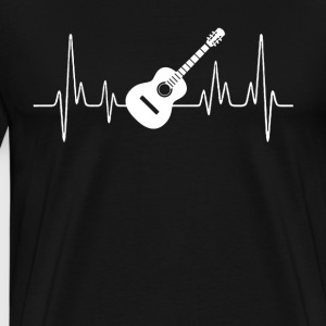 Acoustic Guitar Heartbeat Shirt - Men's Premium T-Shirt