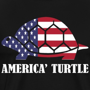 American Flag Tortue Memorial Day USA - T-shirt premium pour hommes