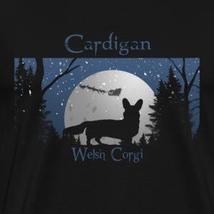 Santa is coming - Cardigan Corgi - Men's Premium T-Shirt