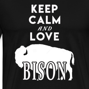 Keep Calm and Love Bison Shirt - Men's Premium T-Shirt