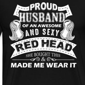 Proud Husband Of Awesome Redhead Shirts - Men's Premium T-Shirt