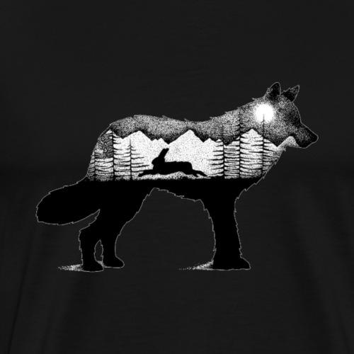 Wolf and rabbit - Men's Premium T-Shirt