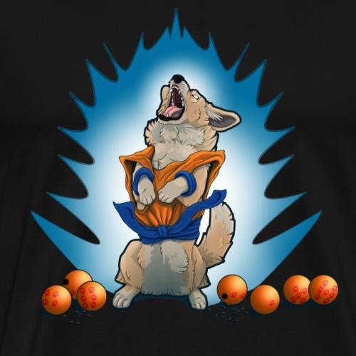 Snack Ball Z - Corgi - Men's Premium T-Shirt
