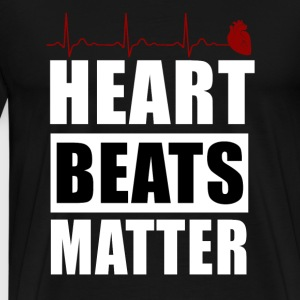 heart beats matter - Men's Premium T-Shirt