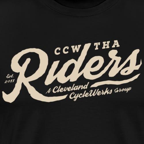 Tha Riders Tan Script Motorcycle design - Men's Premium T-Shirt
