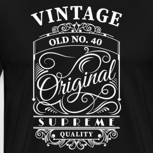 vintage old no 40 - Men's Premium T-Shirt