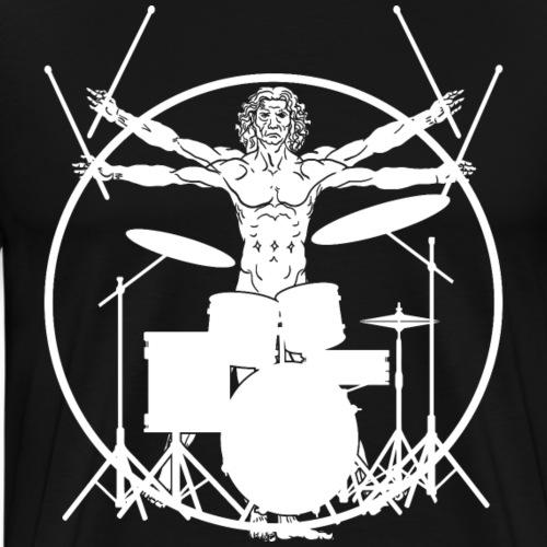 Vitruvian Drummer - Men's Premium T-Shirt