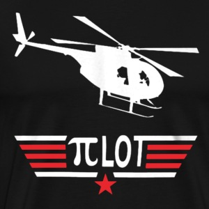 Pi Day Helicopter Pilot Shirt - Men's Premium T-Shirt