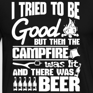 I Tried Be Good Beer Camping T Shirt - Men's Premium T-Shirt