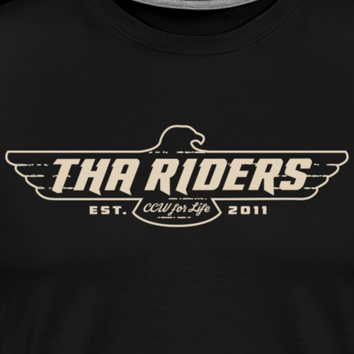 Tha Riders Tan Falcon Motorcycle design - Men's Premium T-Shirt