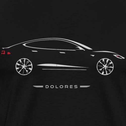 Car Guru - Dolores Silhouette - Men's Premium T-Shirt