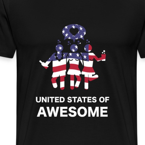 United States of Awesome American 4th July party - Men's Premium T-Shirt