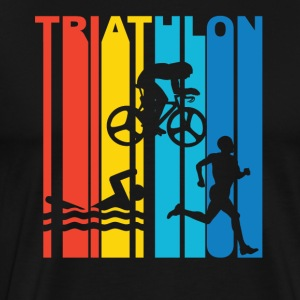 Vintage Triathlon Graphic - Men's Premium T-Shirt