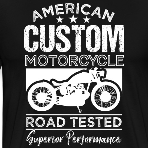 American Custom Motorcycle Road Testet - Men's Premium T-Shirt