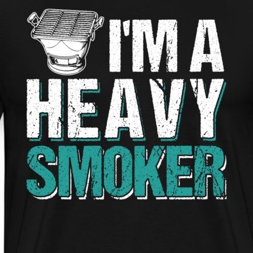 I'm Heavy Smoker BBQ - Men's Premium T-Shirt