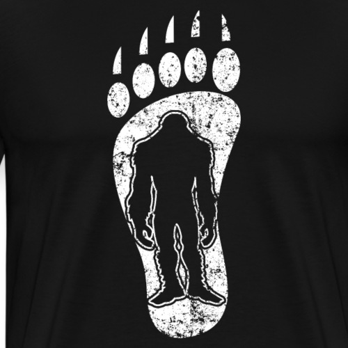 Bigfoot Track Footprint Sasquatch - Men's Premium T-Shirt