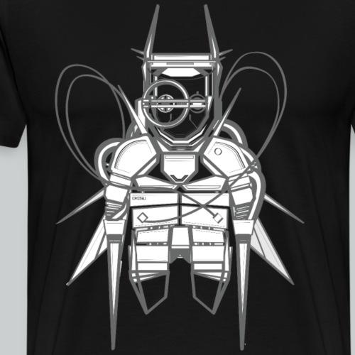 Grey and white T-shirt - Men's Premium T-Shirt