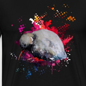 Kiwi Bird Watercolor Love Shirt - Men's Premium T-Shirt