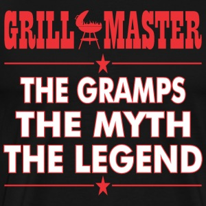 Grillmaster The Gramps The Myth The Legend BBQ - Men's Premium T-Shirt