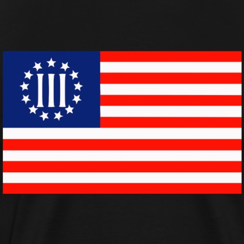 3 Percenters Flag - Men's Premium T-Shirt