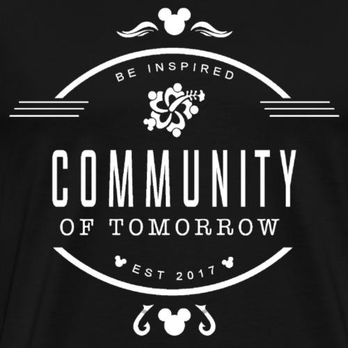Community Of Tomorrow Be Inspired (White) - Men's Premium T-Shirt