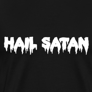 Hail Satan Dripping Text - Men's Premium T-Shirt
