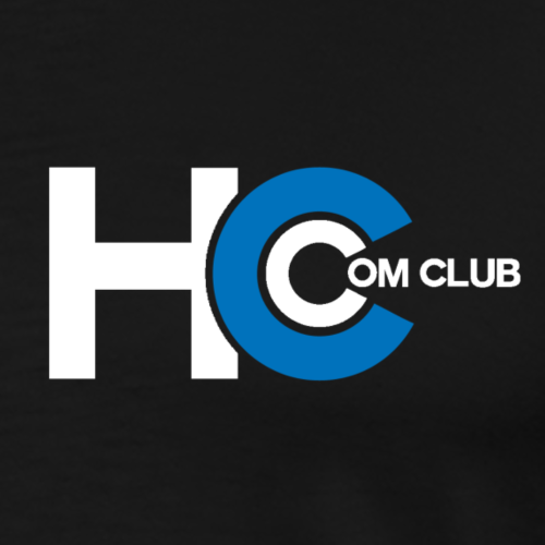 White Com Club Logo - Men's Premium T-Shirt
