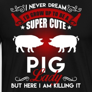 Super Cute Pig Lady Shirt - Men's Premium T-Shirt