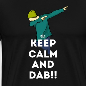 keep calm dab dabbing football touchdown LOL - Men's Premium T-Shirt