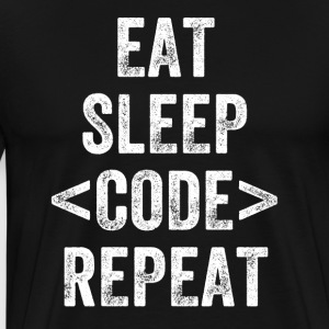 Eat Sleep Code repeat - Men's Premium T-Shirt