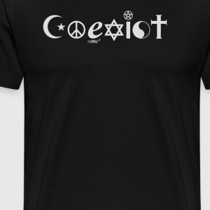 Ying Yang Coexist Cyber system - Men's Premium T-Shirt