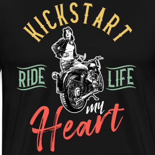 Kickstart Ride Life my Heart - Men's Premium T-Shirt