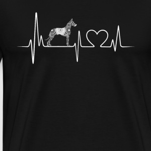 great dane heartbeat shirt - Men's Premium T-Shirt