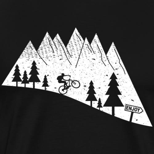 mountain bike bicycle cycling - Men's Premium T-Shirt