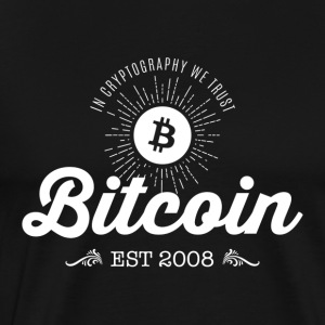 Bitcoin Vintage Logo - Men's Premium T-Shirt