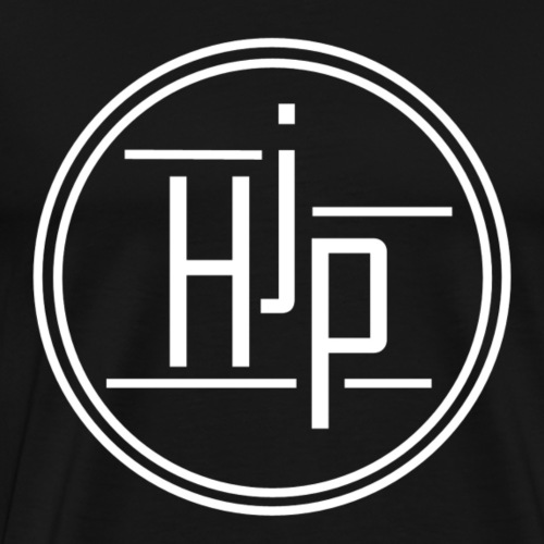 HJP Circle Logo (White) - Men's Premium T-Shirt
