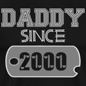 Daddy Since Tag 2000 Happy Fathers Day - Men's Premium T-Shirt
