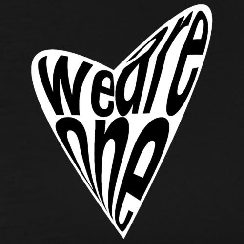 We Are One WHITE HEART - Men's Premium T-Shirt